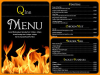 Black Flames Menu